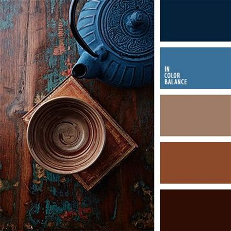 color inspiration brown and color pallets on