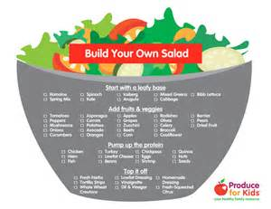 build your build your own salad produce for kids