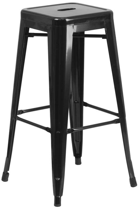 30 backless bar stools 30 quot backless black metal bar stool bar restaurant