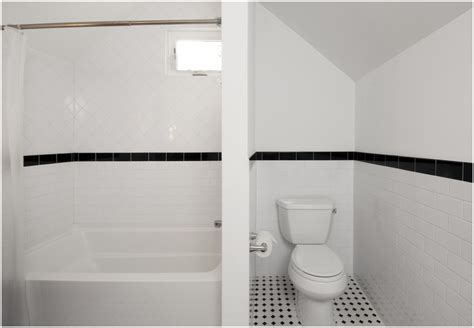 Black And White Tile Ideas For Bathrooms by Traditional Bathroom With Black And White Tile Floor