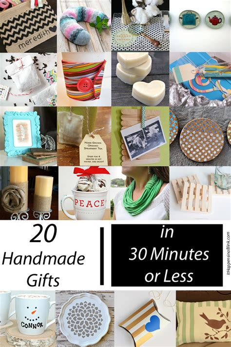 Handmade Gifts 2014 - 20 handmade gifts in 30 minutes or less