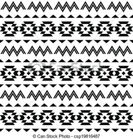 Zentangle Design by Tribal Pattern Aztec Pattern Royalty Free Vector Clip