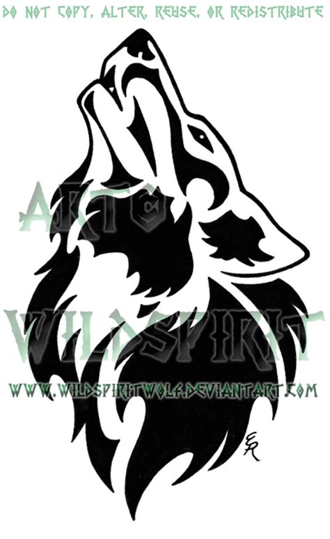 proud howling wolf head tattoo tribal howling wolf www imgkid the image kid