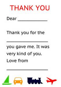Thank You Note To My Card Template Pdf Teaching Ideas Child