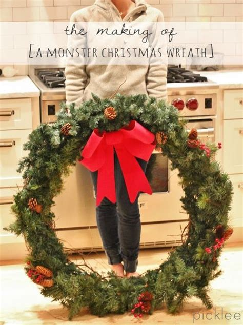 making   monster christmas wreath diy christmas