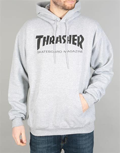 Jaket Sweater Hoodie Zipper Stussy Skate thrasher skate mag pullover hoodie grey skate hoodies mens pullover zip