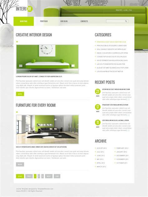 new joomla themes free joomla interior template