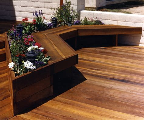 garden bench made from decking deck seating ideas plants doherty house build custom