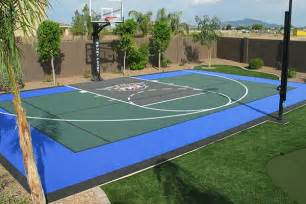 Basketball Half Court Dimensions Backyard by Backyard Basketball Courts For Phoenix Scottsdale