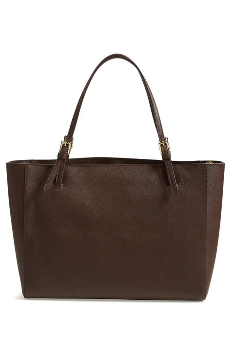 Tote Bag York Buckle 1573 burch s york saffiano leather buckle tote
