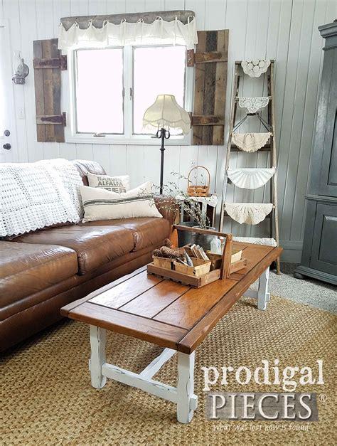 farmhouse coffee table decor farmhouse coffee table diy your decor prodigal pieces