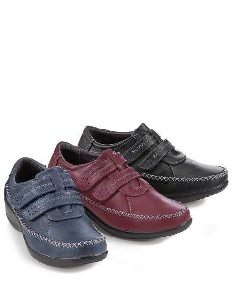 comfort plus shoes comfort plus ladies wide fit touch fasten shoe ladieswear