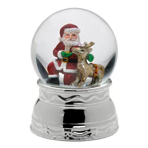 santa and friends snow globe mikasa christmas snowglobe