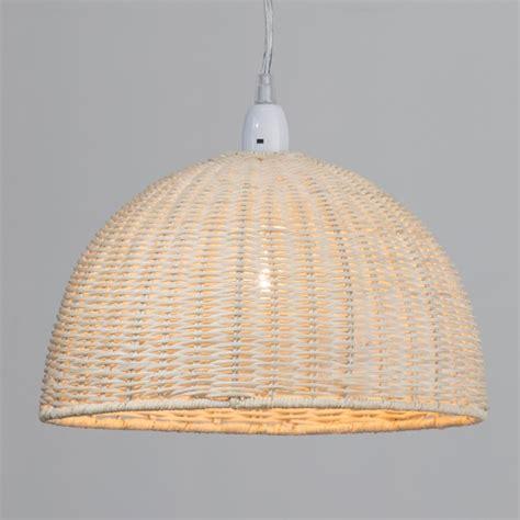 Woven Pendant Light Woven Wooden Easy Fit Pendant Light Rattan Dome L Shade Litecraft Ebay