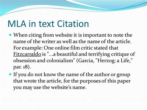 mla in text citations youtube