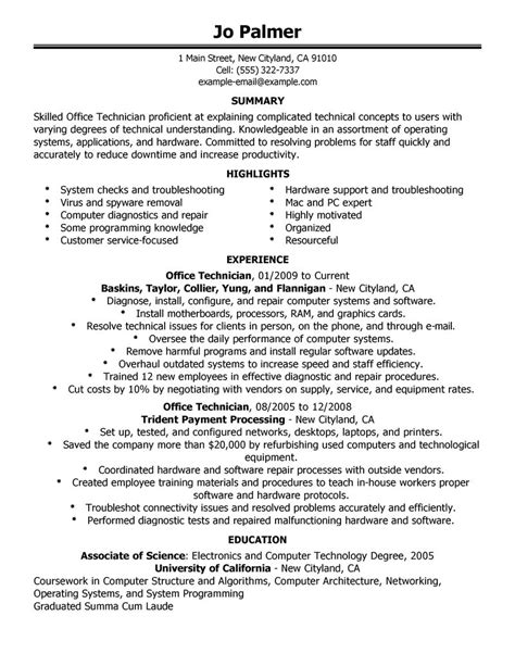 Length Of Resume by Computer Repair Technician Resume Length How Sales