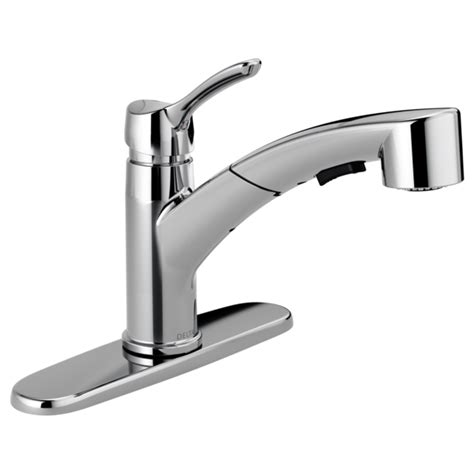 Delta Select Faucet by 4140 Dst Single Handle Pull Out Kitchen