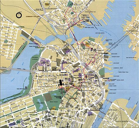 map boston boston map detailed city and metro maps of boston for orangesmile