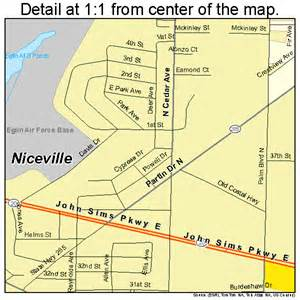 map of niceville florida niceville florida map 1248750