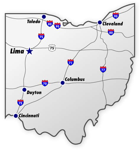 map of ohio with major cities our location joint systems manufacturing center lima