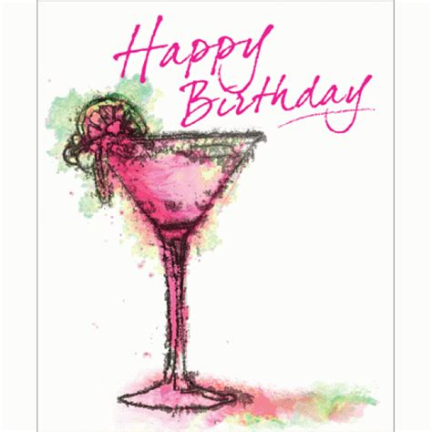 birthday martini gif birthday drink graphic