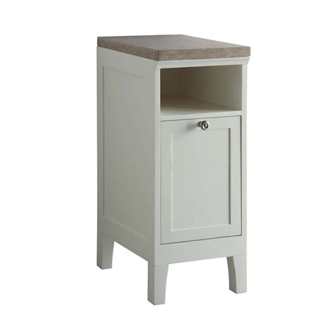 shop allen roth norbury white storage cabinet common