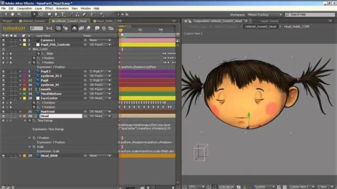 tutorial after effect animation how to animate a simple 2d character head rotation in