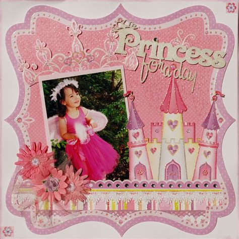 scrapbook layout princess quot princess quot layout by nic snook some of my favourite