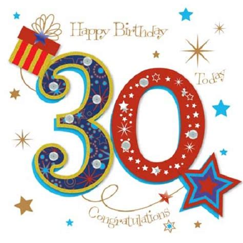 Happy 30th Birthday Card Happy 30th Birthday Greeting Card By Talking Pictures
