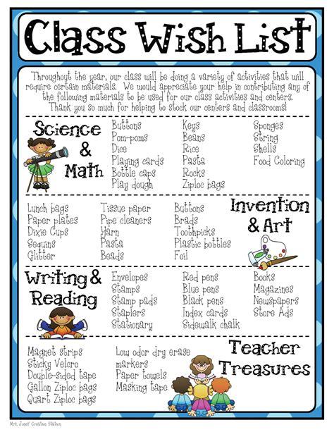 classroom wish list template mrs jones creation station class wish list parent