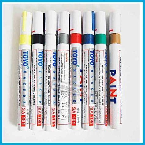 Spidol Ban Mobil Motor Toyo Original Putih Paint Marker jual spidol ban toyo funshop co id funshop co id