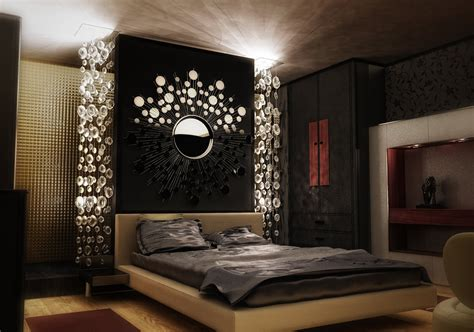 wall design of bedroom dark luxury modern bedroom design with wall lighting and