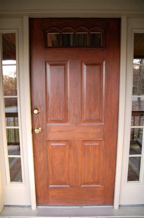 how to paint a wood door exterior front door redo using faux wood grain technique living
