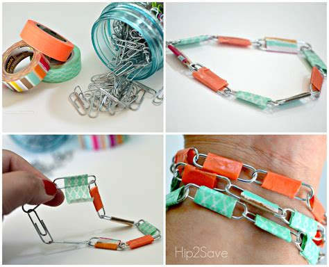 how to make jewelry out of paper paper clip jewelry summer craft hip2save