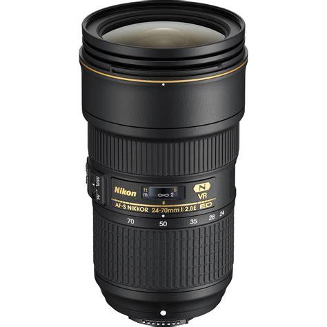 nikon af s nikkor 24 70mm f 2 8e ed vr lens 20052 b h photo