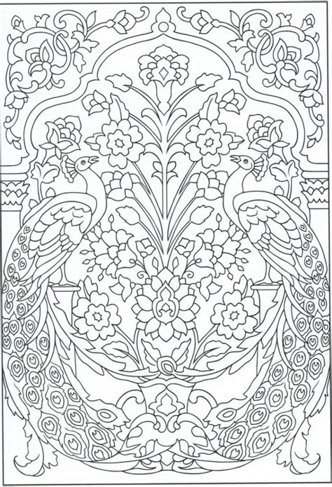 Creative Coloring Pages For Adults coloring pages peacock coloring page for adults color