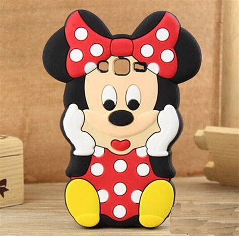 Samsung J120 J1 2016 3d Mickey Mouse Ear Cover Casing Iring Bagus 3d mouse for samsung galaxy j1 j5 j7 samsung