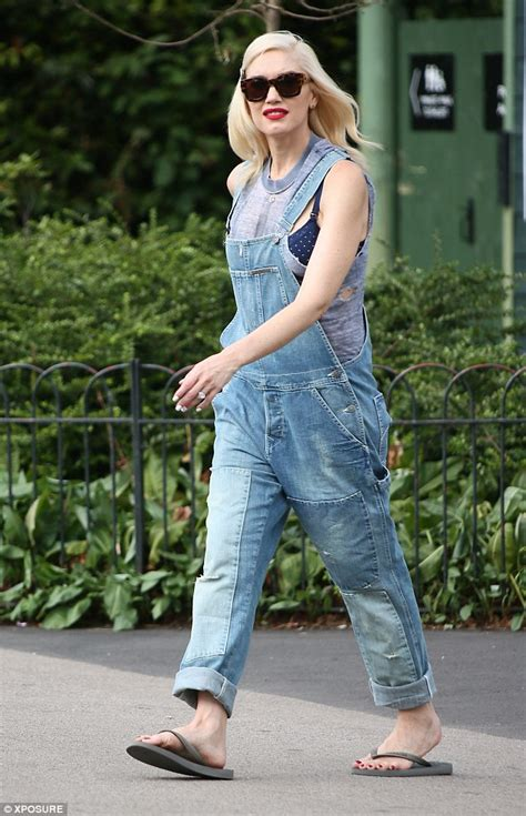 Zuna Overal by Gwen Stefani Wears Dungarees Taking Sons To Primrose Hill