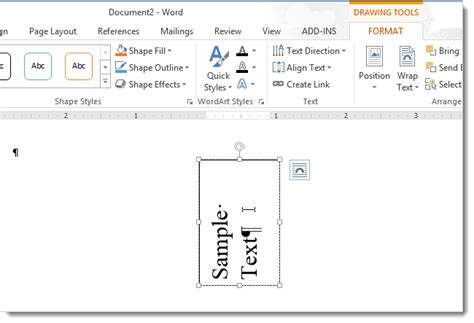 Rotate A Table In Word by How To Change The Direction Of Text In Word 2013