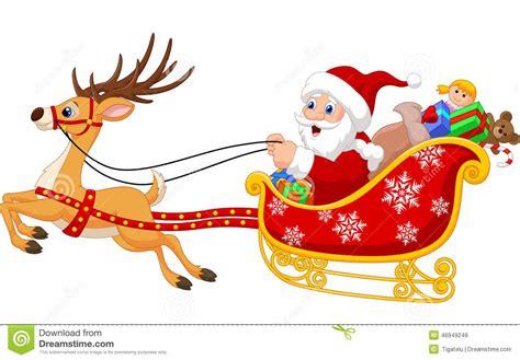 imagenes de santa claus en su trineo para colorear pap 225 noel en su trineo de la navidad que es tirado por el