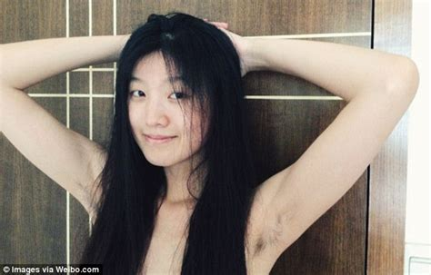 beautiful women showing pubic hair winners of chinese women s armpit hair selfie contest