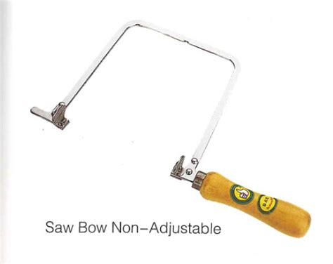 Non Adjustable Coping Saw Used For Cutting Tight Curves In