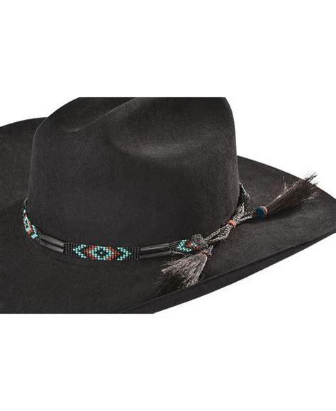 southwest bone beaded hat band loom work pinterest