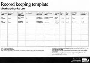 record keeping templates veterinary chemicals the and you veterinary
