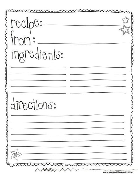 recipe template printable 25 best ideas about recipe templates on