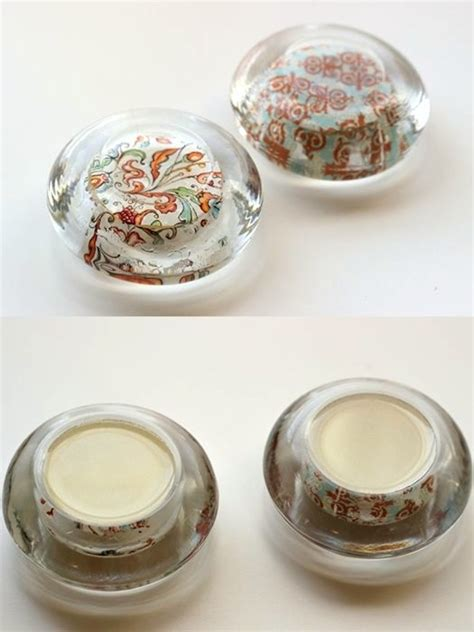 How To Make A Glass Paper Weight - diy paperweights from glass candle holders mod podge rocks