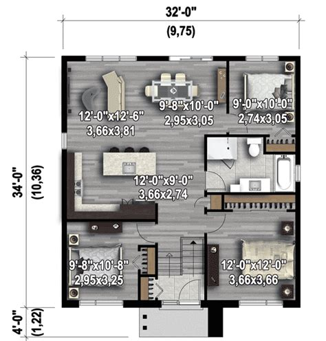 75 sq feet compact modern house plan 80785pm architectural