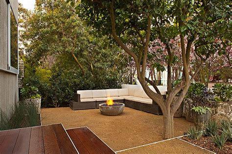 decomposed granite and corner seating patio pinterest