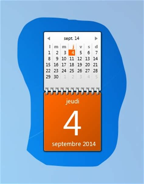 Calendrier Sur Bureau Windows 7 Windows 7 Ajouter Le Calendrier Sur Votre Bureau Windows 7