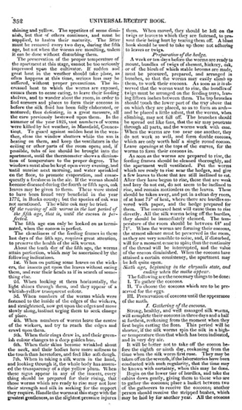 mackenzie s five thousand receipts in all the useful and domestic arts constituting a complete practical library relative to agriculture bees carving at table etc classic reprint books directions for the rearing of silk worms quot in mackenzie s